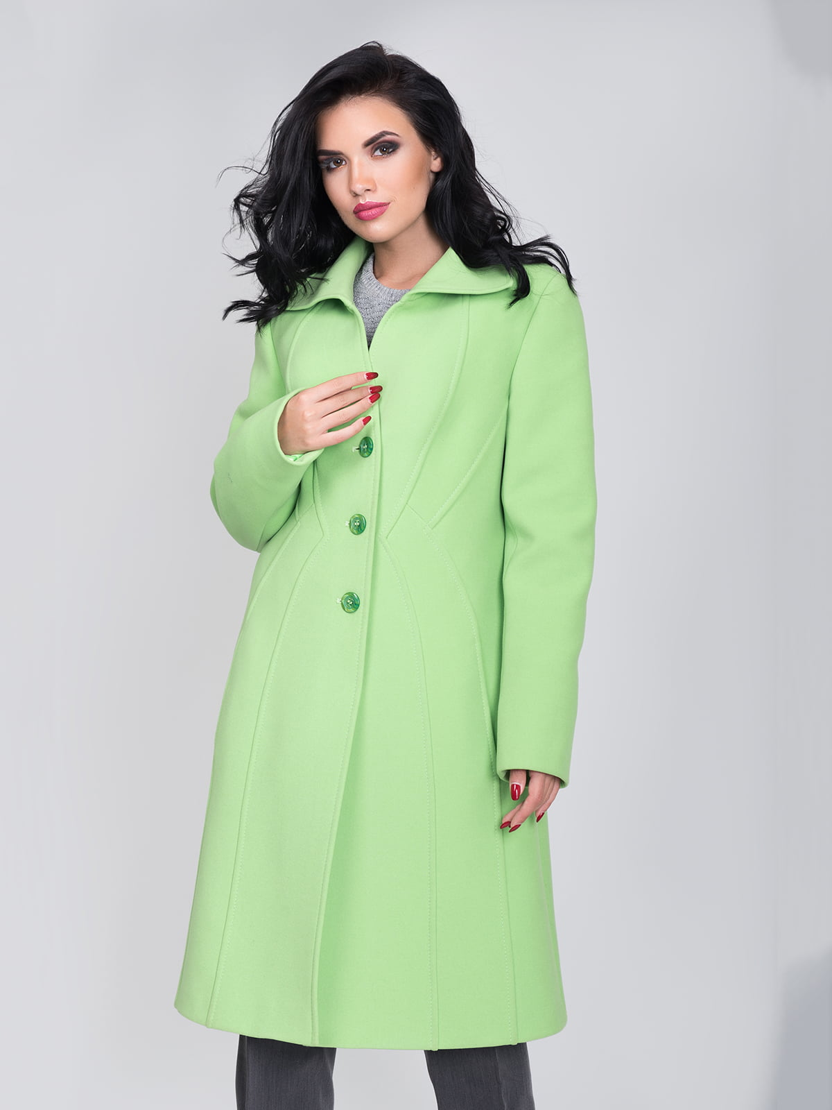 Пальто цвета зеленого яблока | 5179978