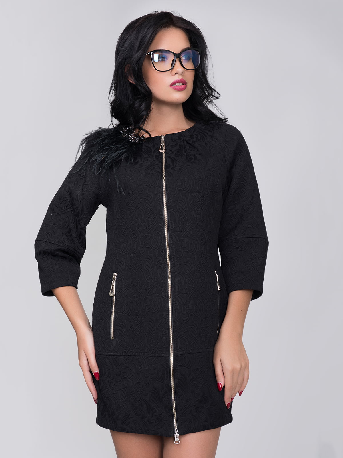 Пальто чорне | 5179940
