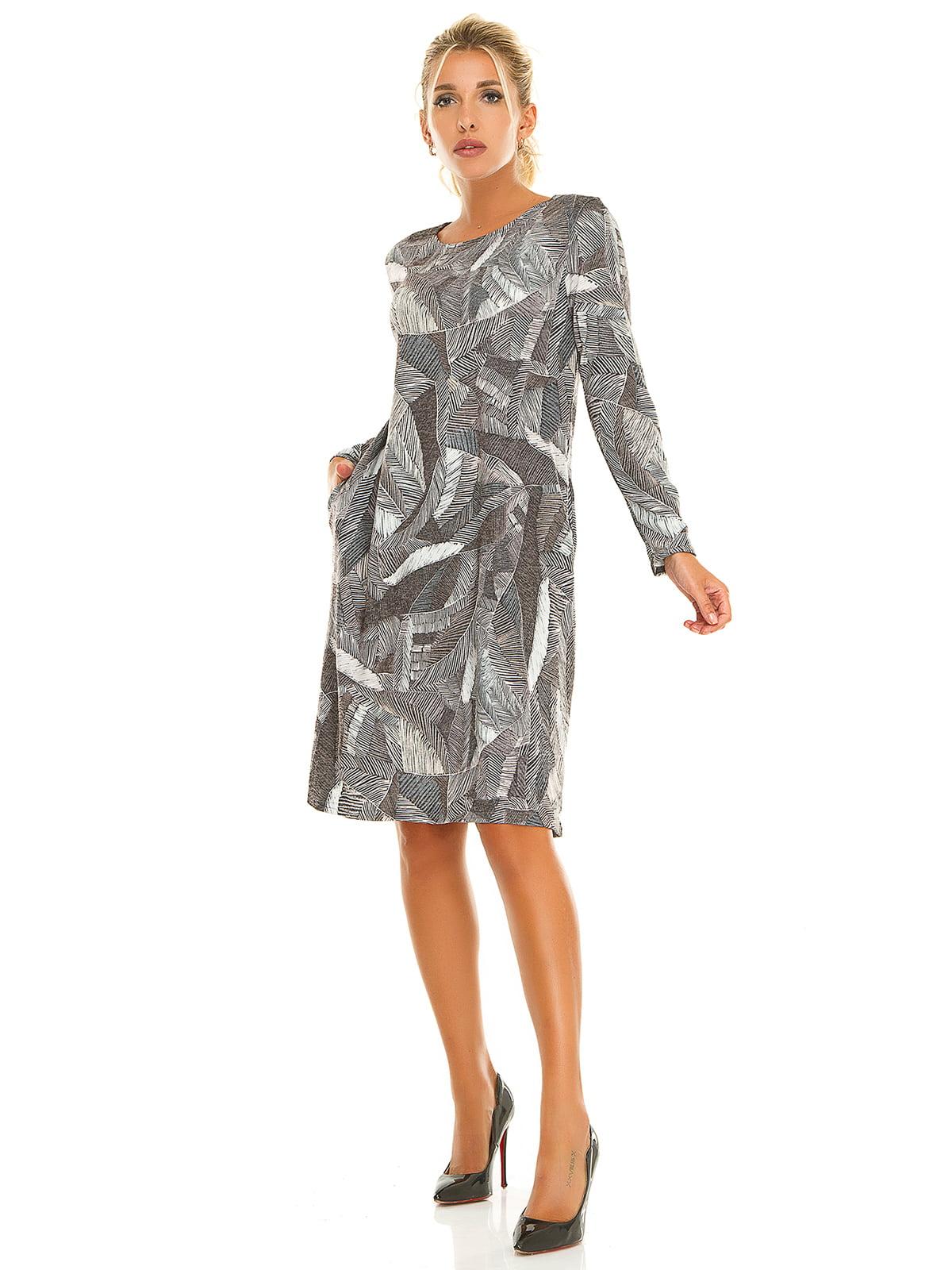 Сукня сіра в принт | 5181207