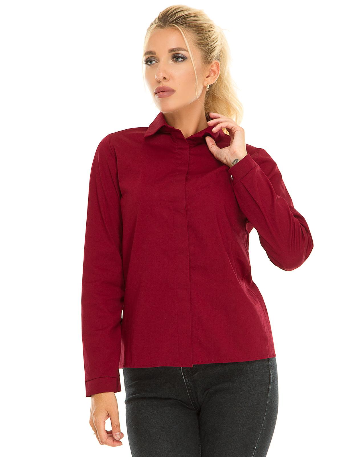 Рубашка бордовая | 5181212