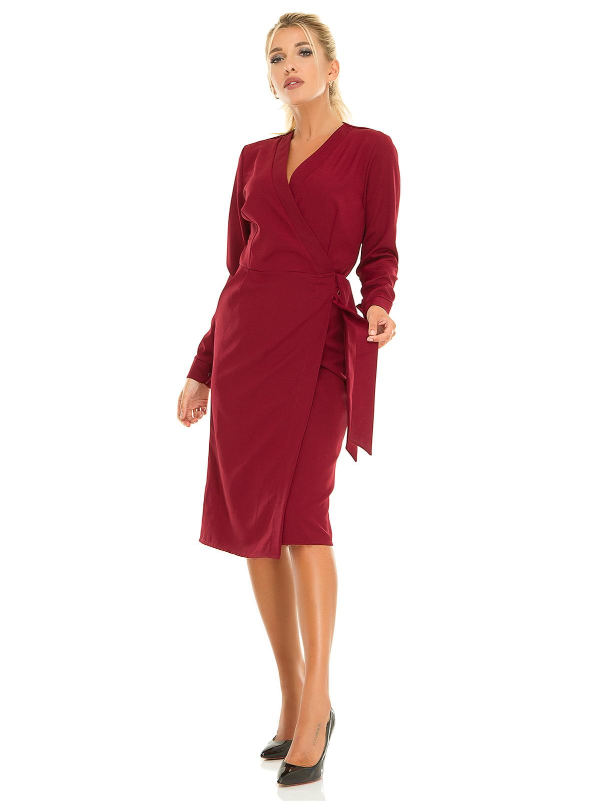 Платье бордовое | 5181223