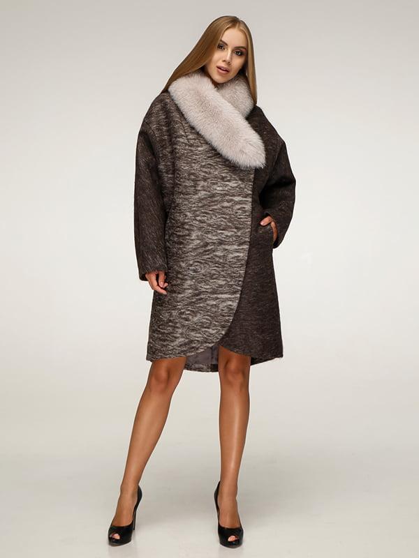 Пальто коричневое   5179065