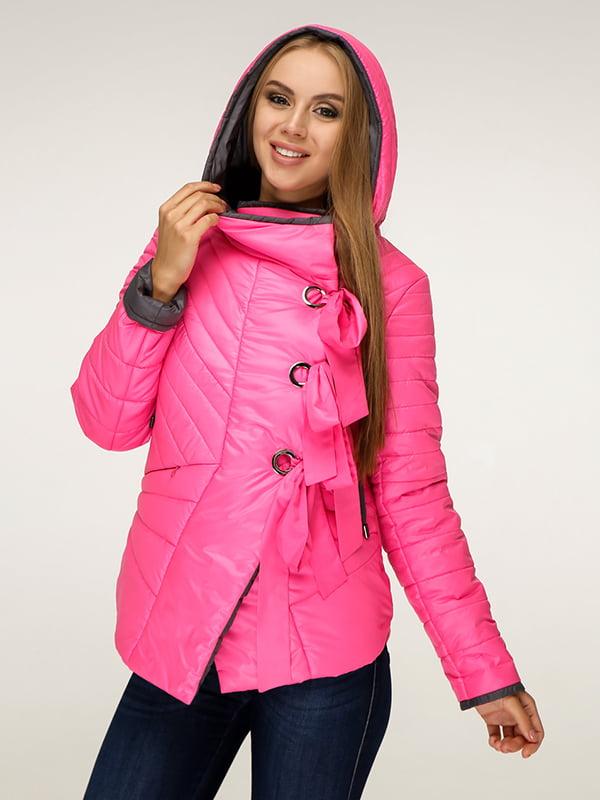 Куртка малинового цвета   5179105