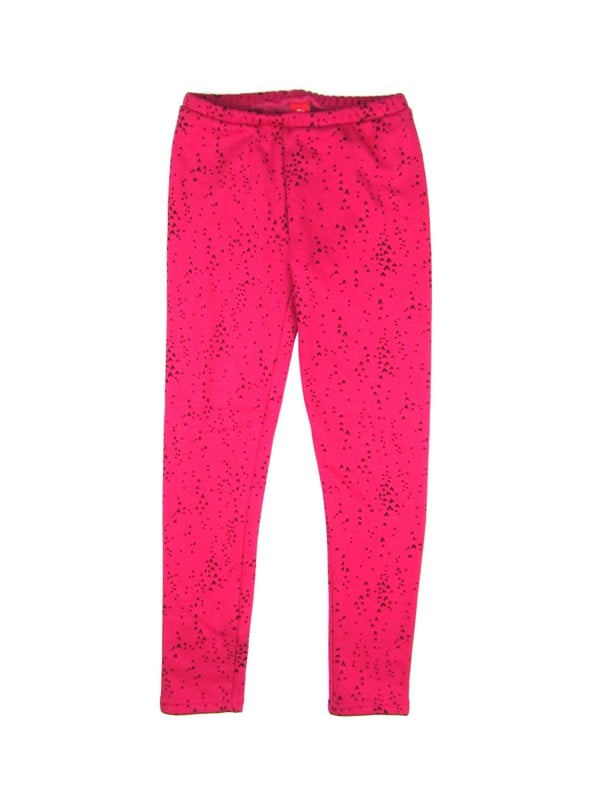 Легінси рожеві в принт | 5168036