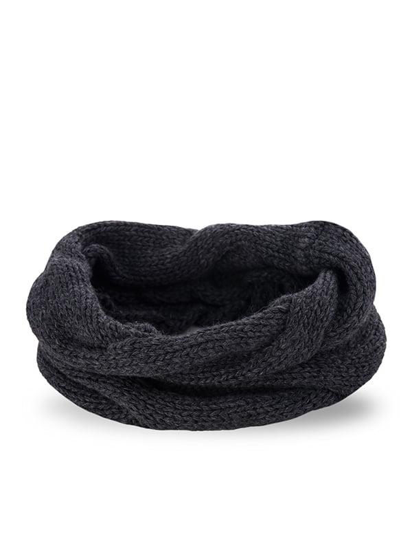 Шарф-снуд темно-серый   5184351