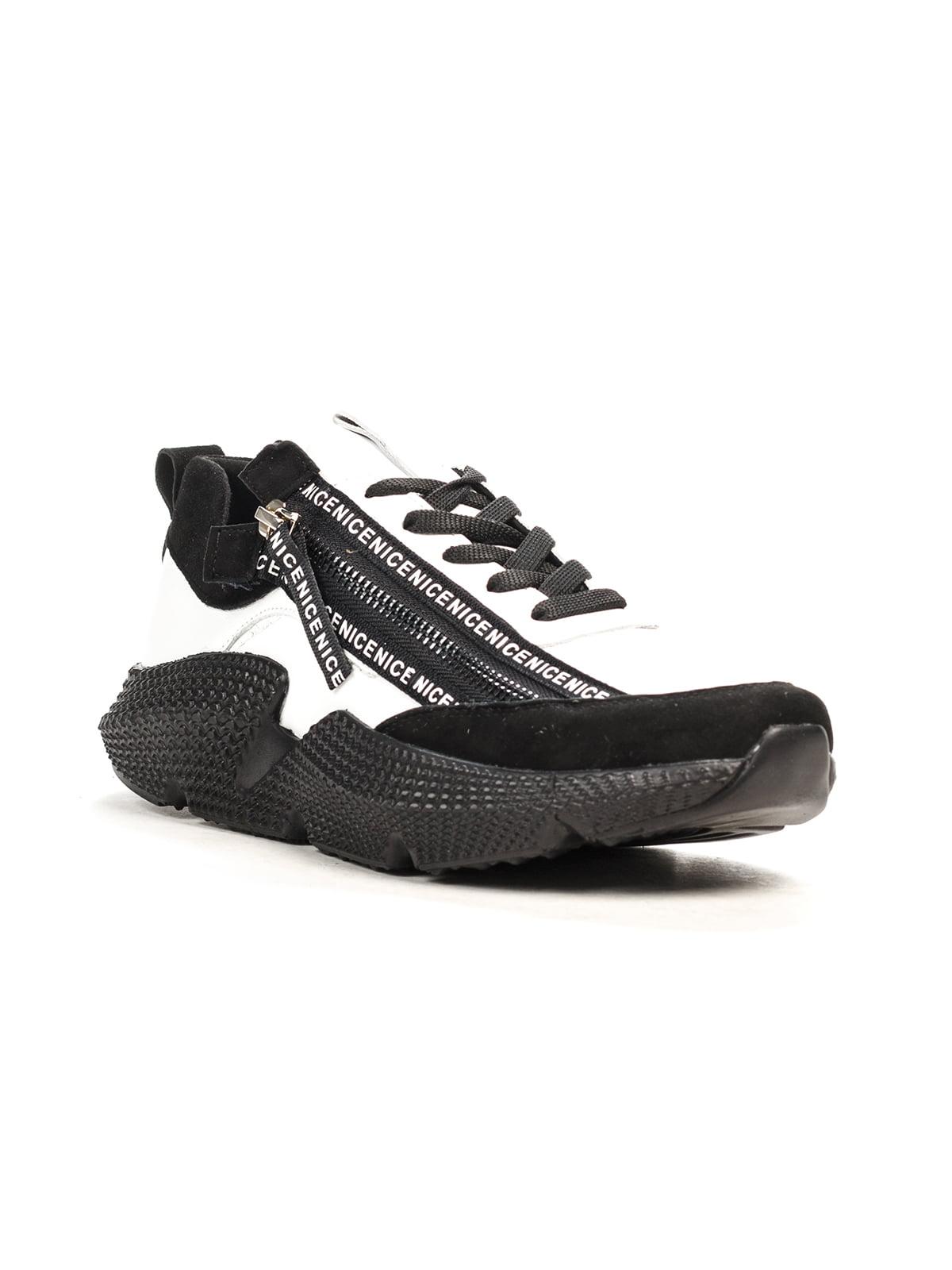 Кросівки чорно-білі | 5181202