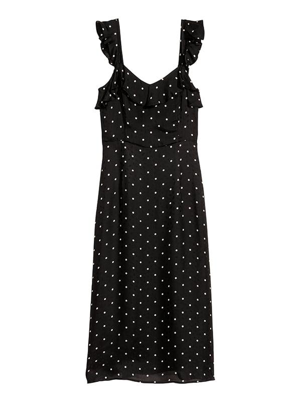 Платье черное в горошек | 5185250