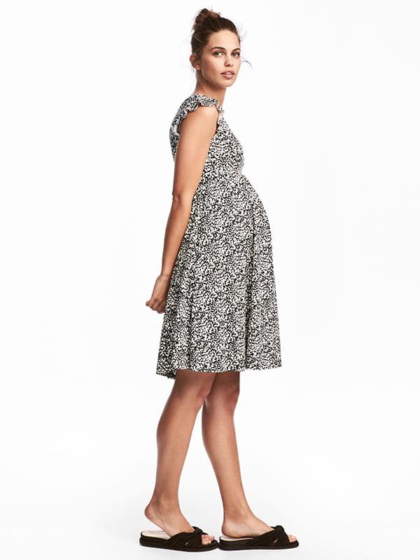 Сукня біла в принт | 5185265