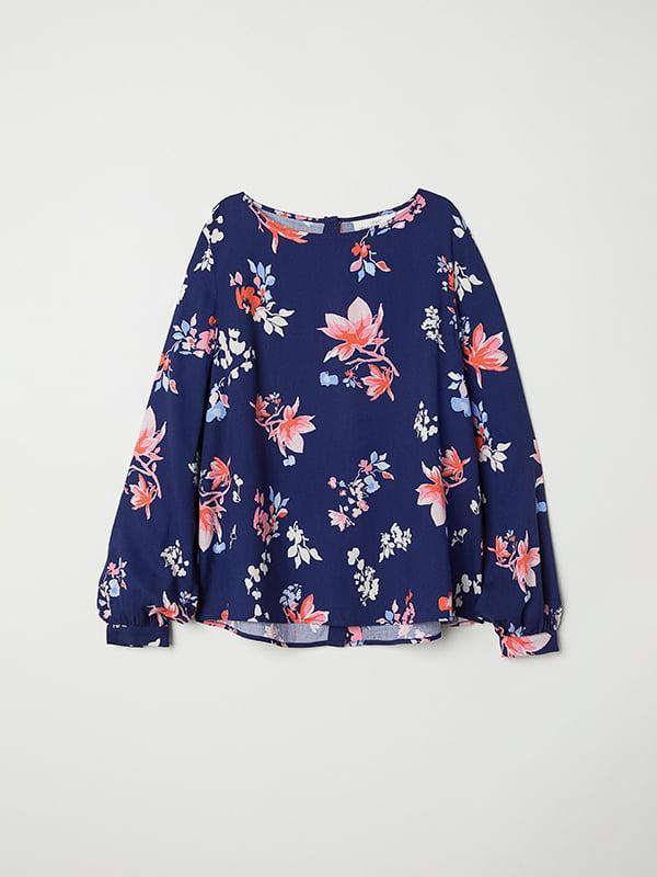 Блуза синяя   5185273
