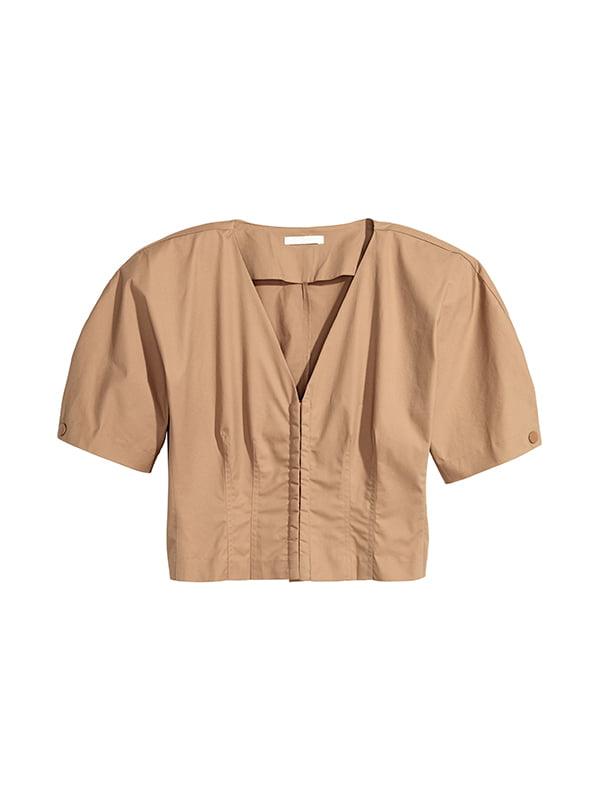Блуза темно-бежева | 5185280