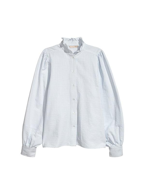 Рубашка белая в полоску | 5185391