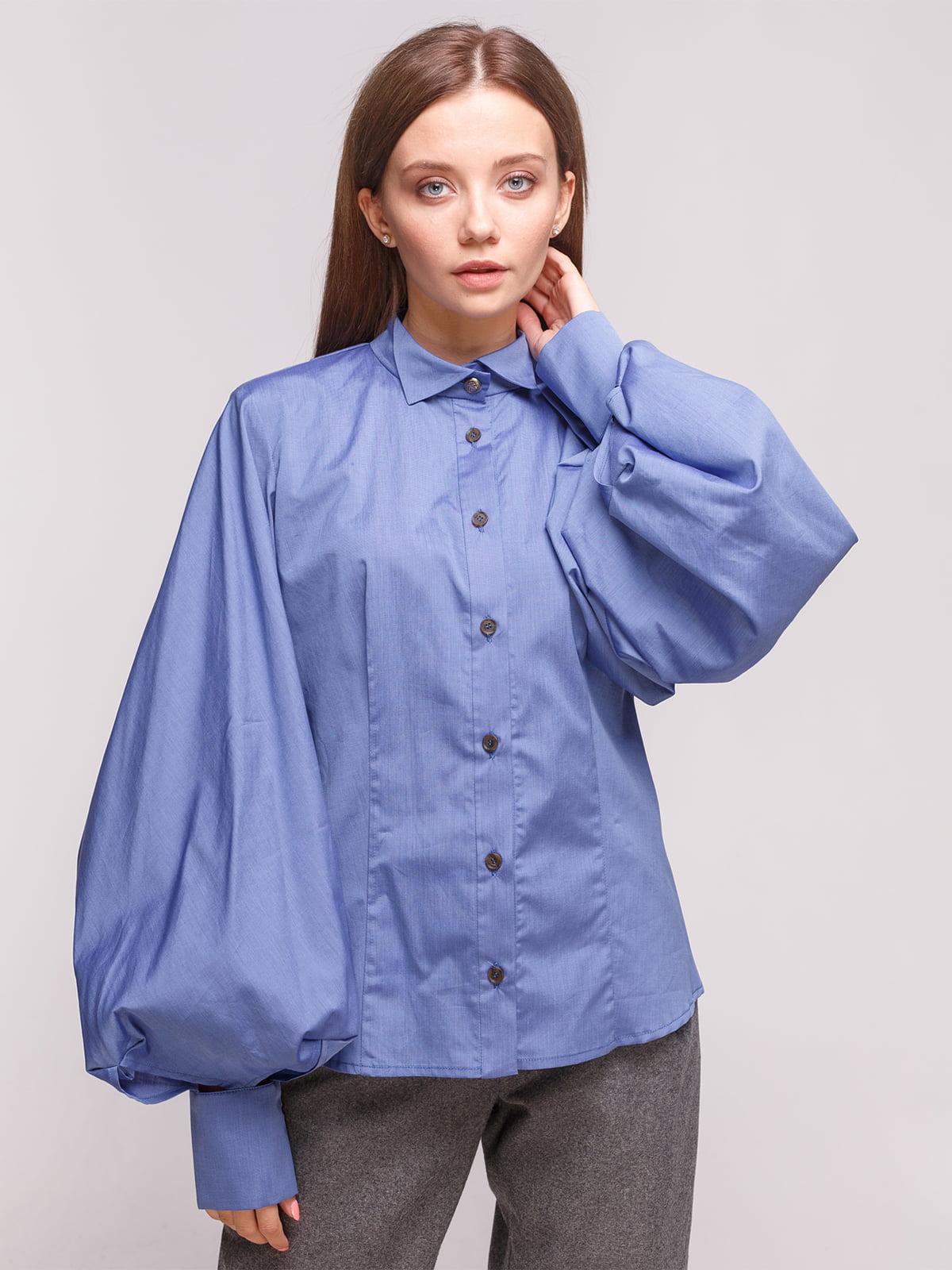 Блуза синяя | 5168229