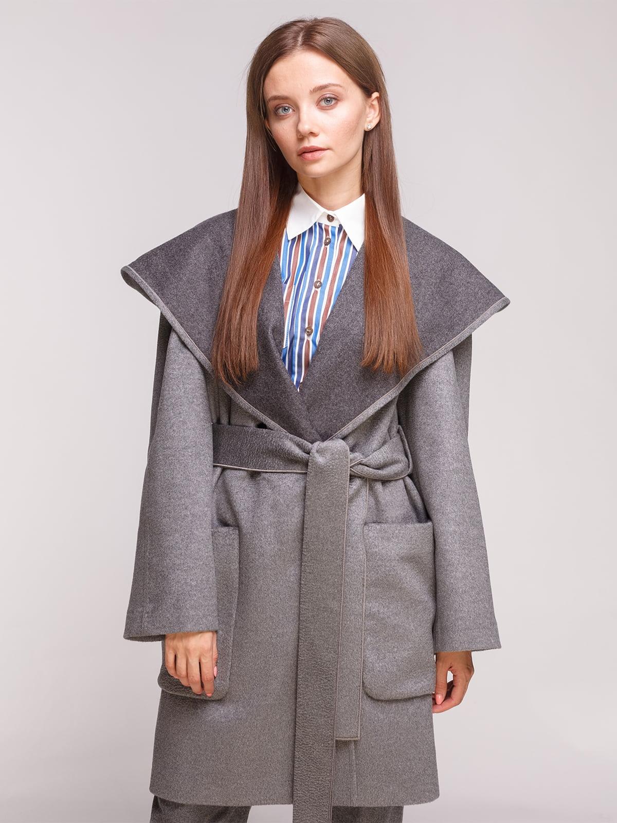 Пальто темно-сіре | 5184206