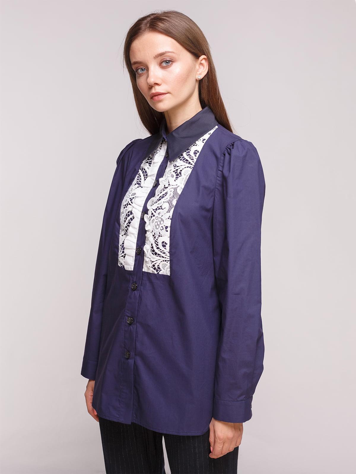 Блуза темно-синяя | 5163165