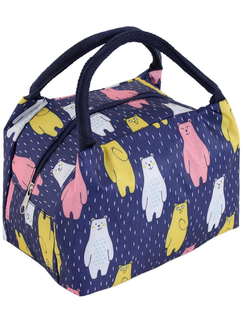 Термо-сумка синяя в принт | 5195025