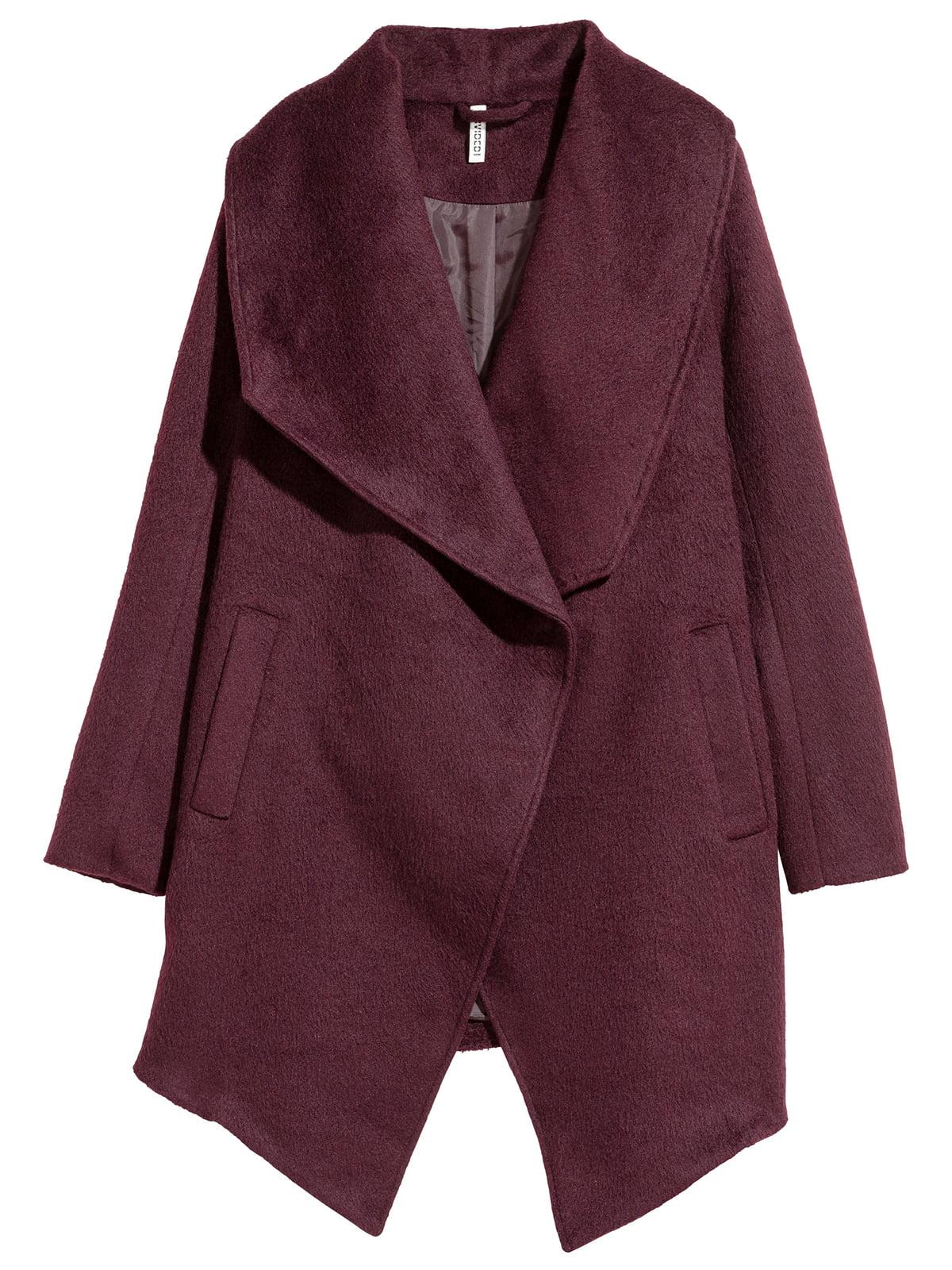 Пальто бордовое | 5187894