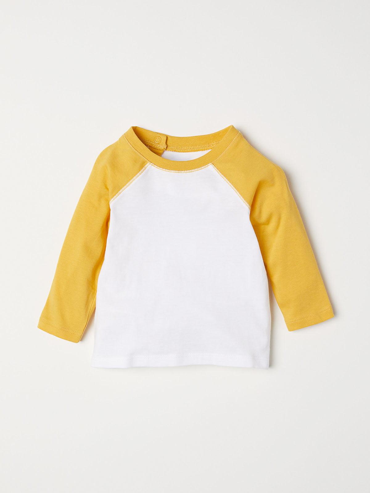 Лонгслив бело-желтый | 5197015