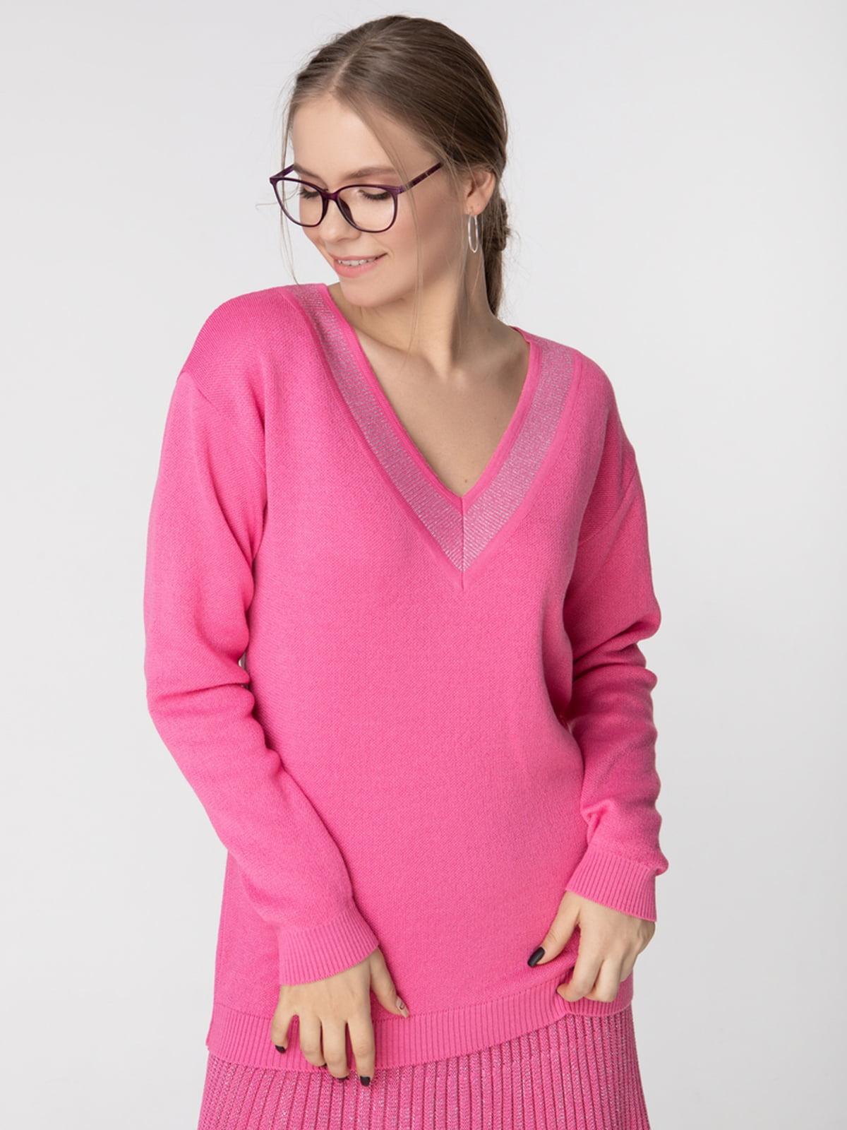 Пуловер рожевий | 5197624