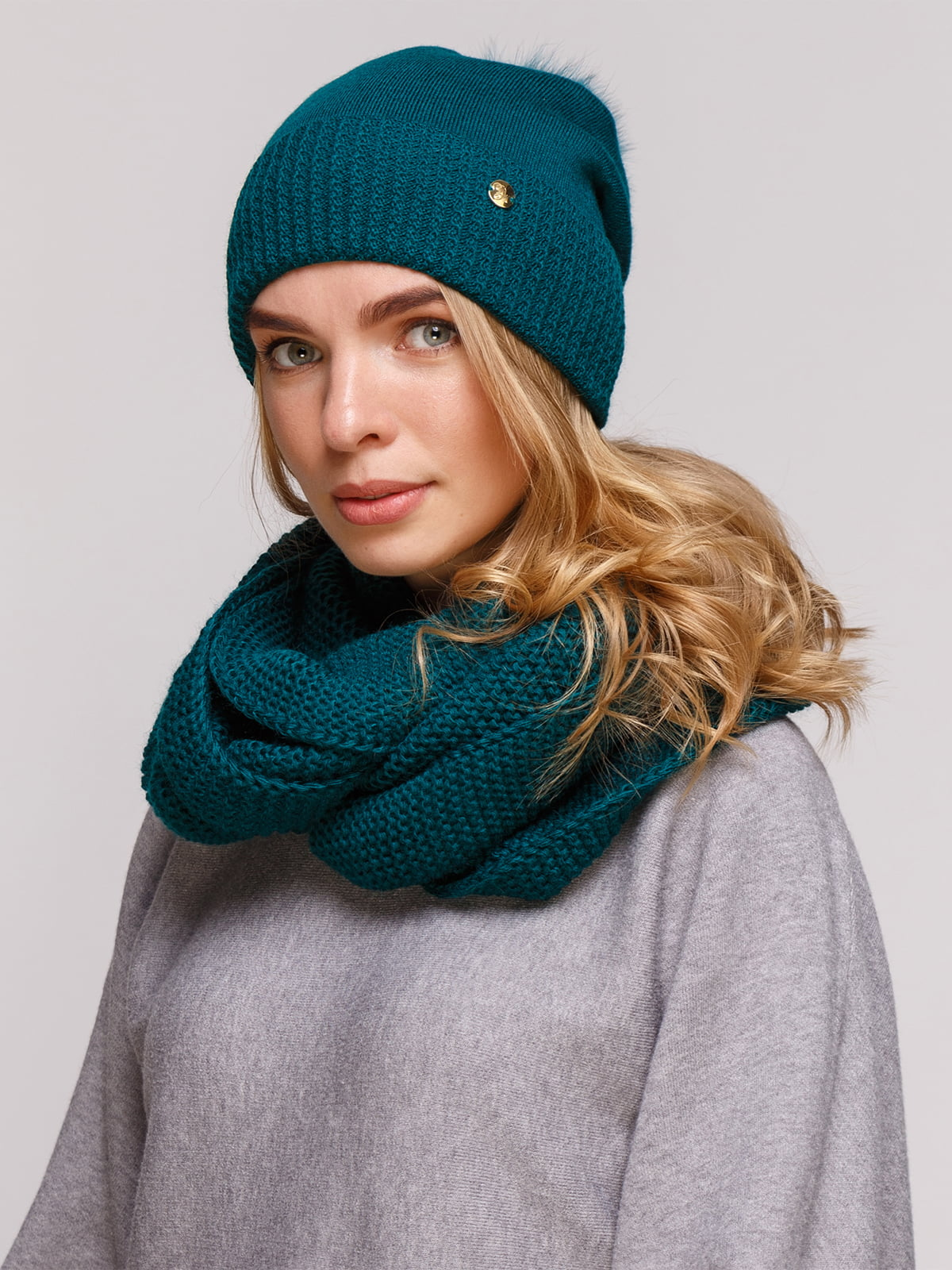 Комплект: шапка і шарф-снуд | 5195730
