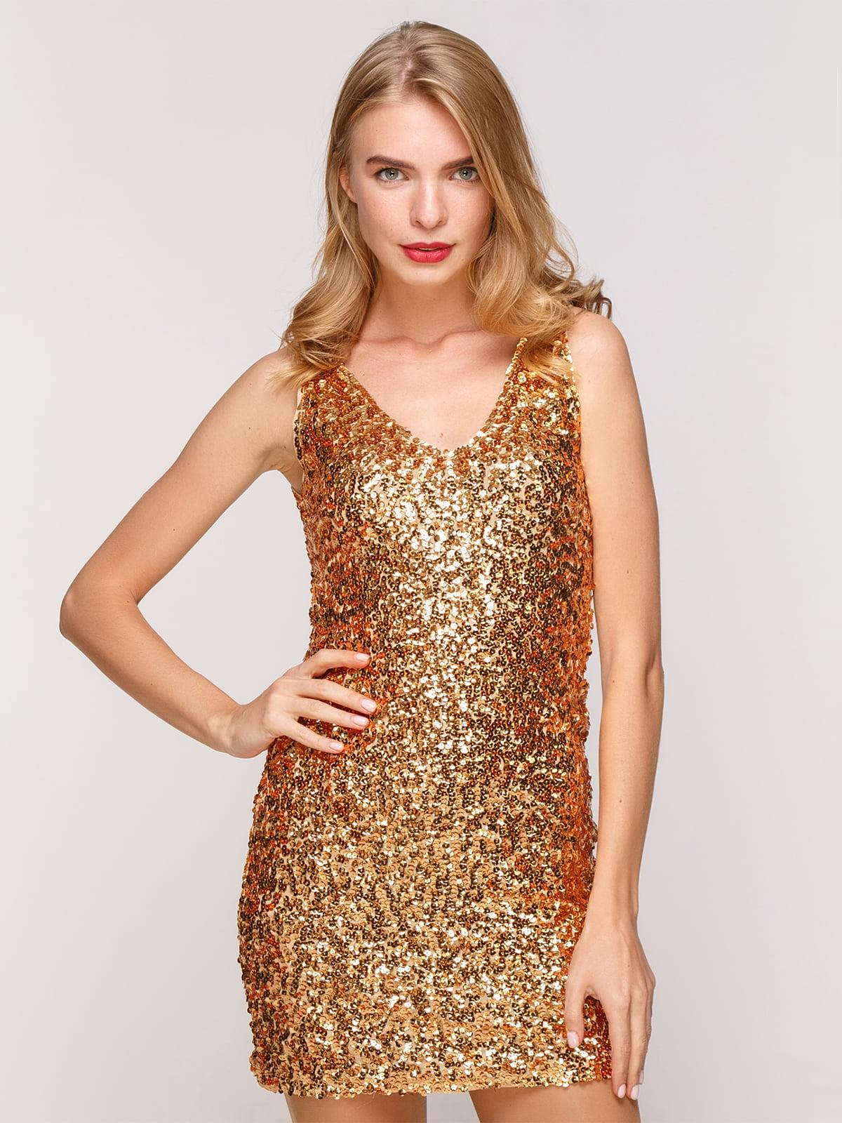 Платье золотистое   5011789