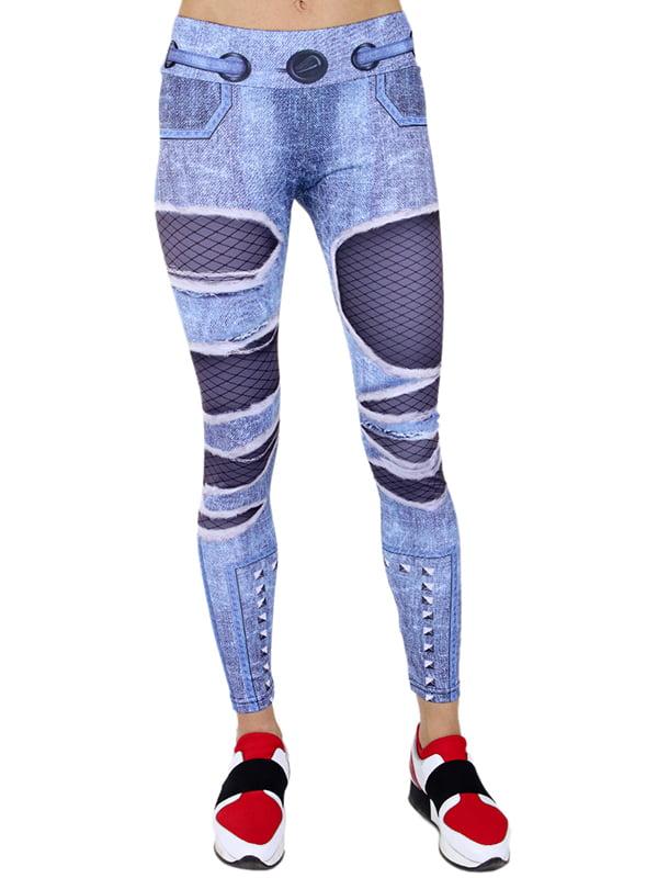 Леґінси сині в принт | 5200526