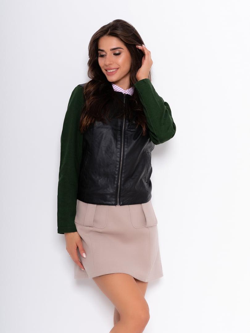 Куртка черно-зеленая | 5200530