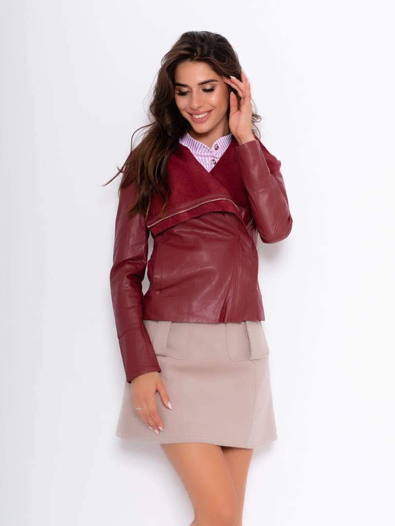 Куртка бордовая | 5200545