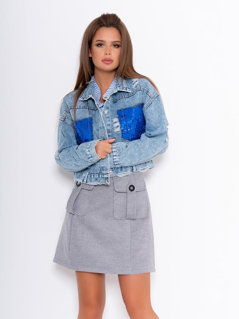 Куртка голубая | 5200666