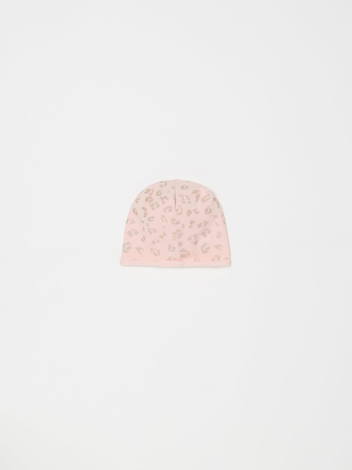 Шапка розовая в принт   5166669