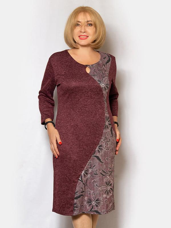 Платье бордовое | 5201010