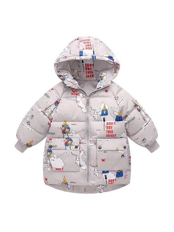 Куртка серая с принтом   5202851