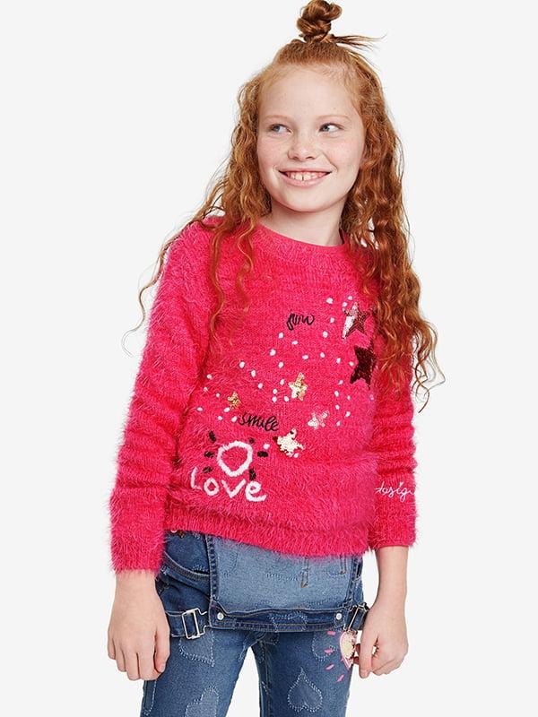Джемпер рожевий із декором   5185571
