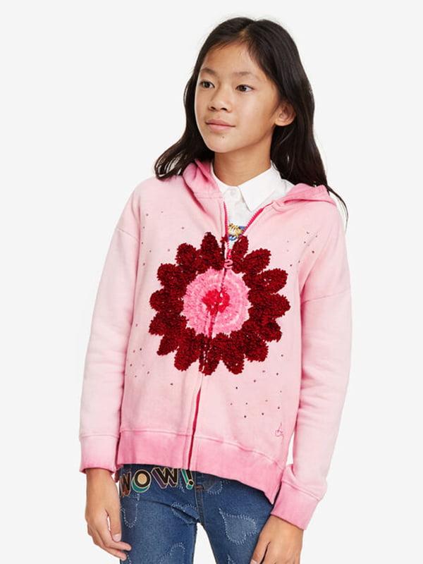 Толстовка рожева з принтом   5185573