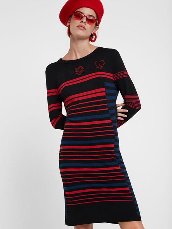 Сукня чорна в смужку | 5185615
