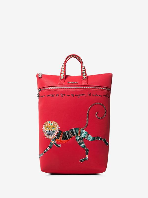Рюкзак червоний із вишивкою | 5196429