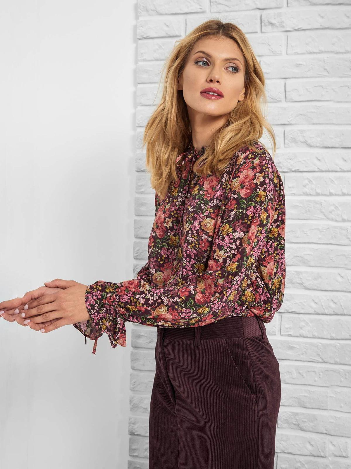 Блуза в квітковий принт   5203245