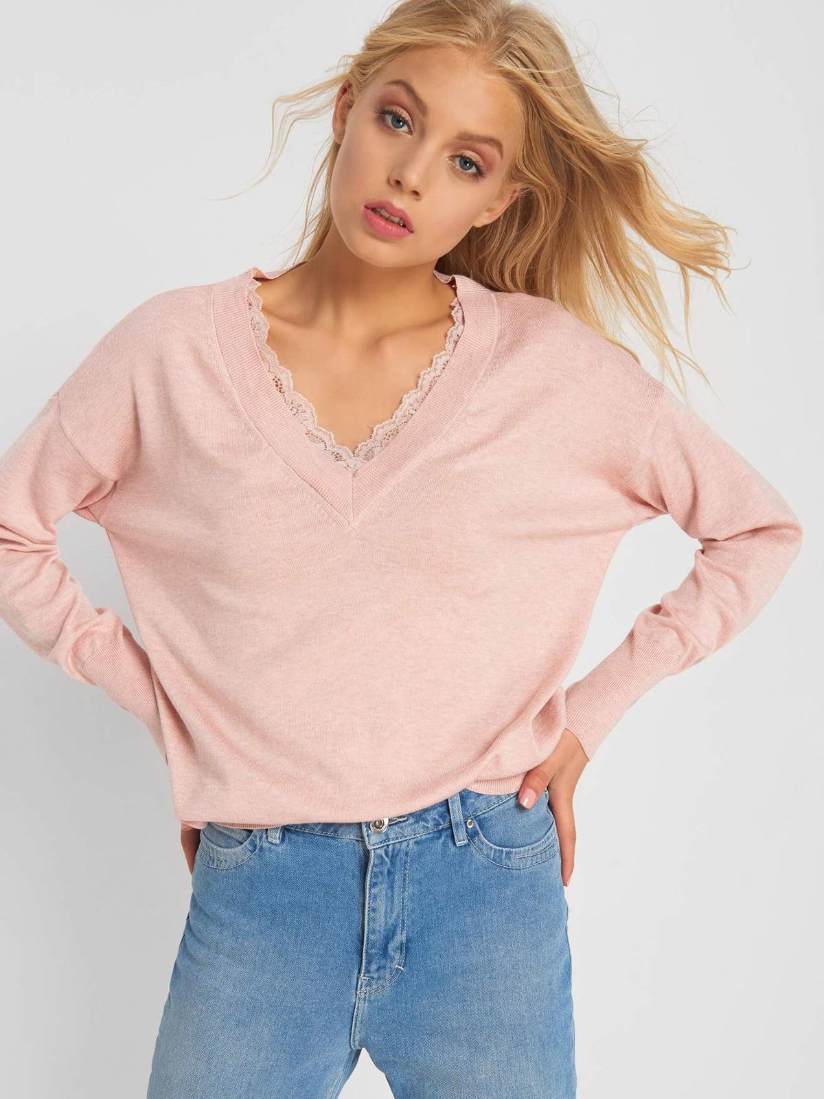 Пуловер розовый | 5203228