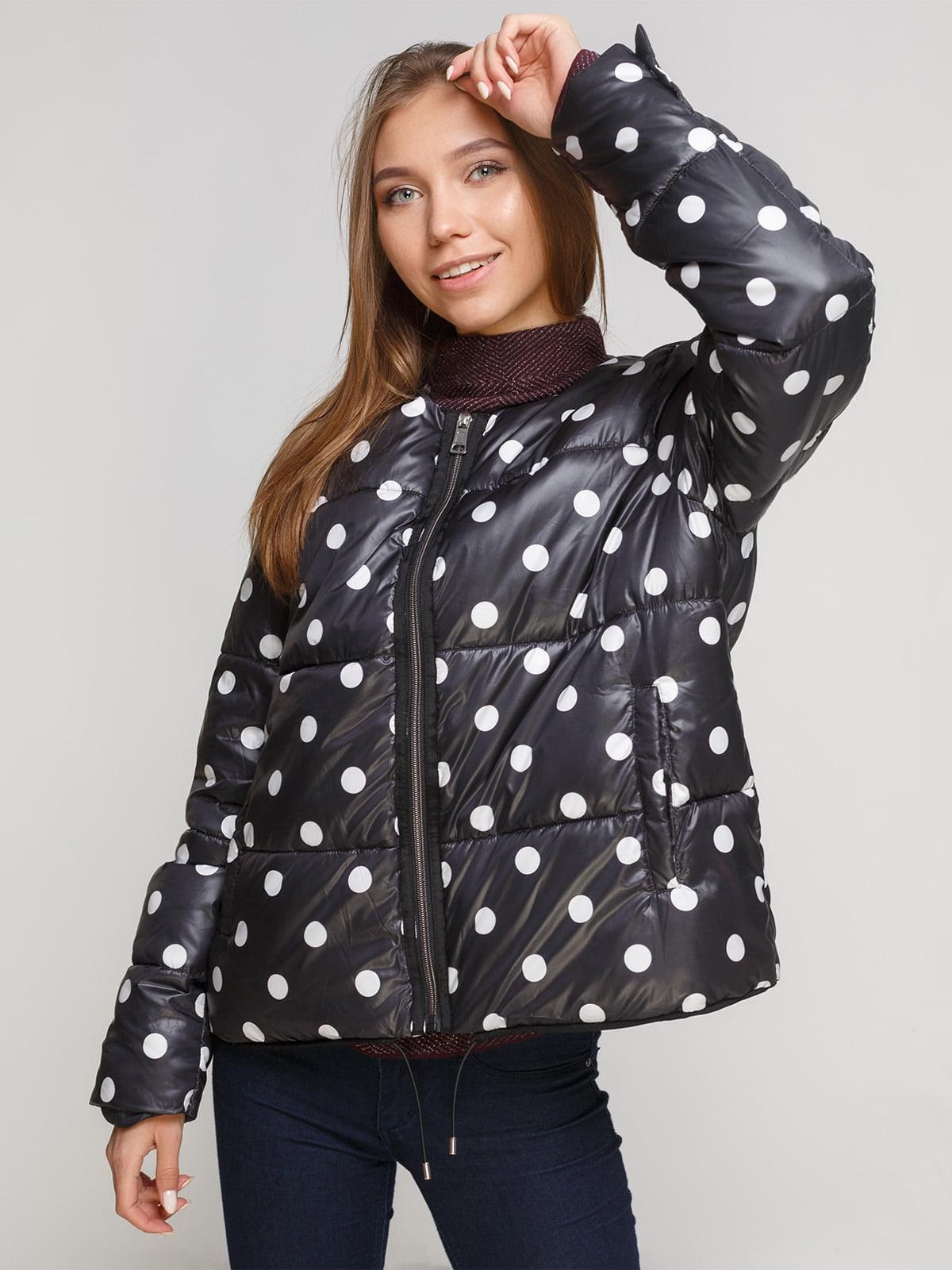 Куртка черная в горох   3956954