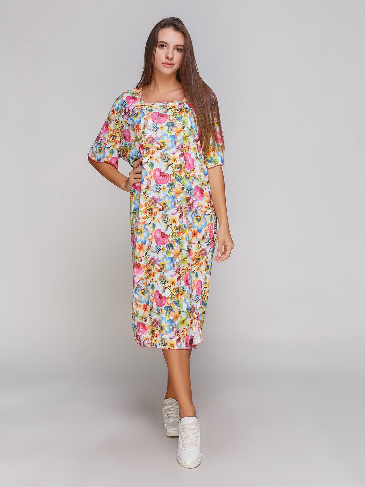 Платье в цветочный принт | 4768834