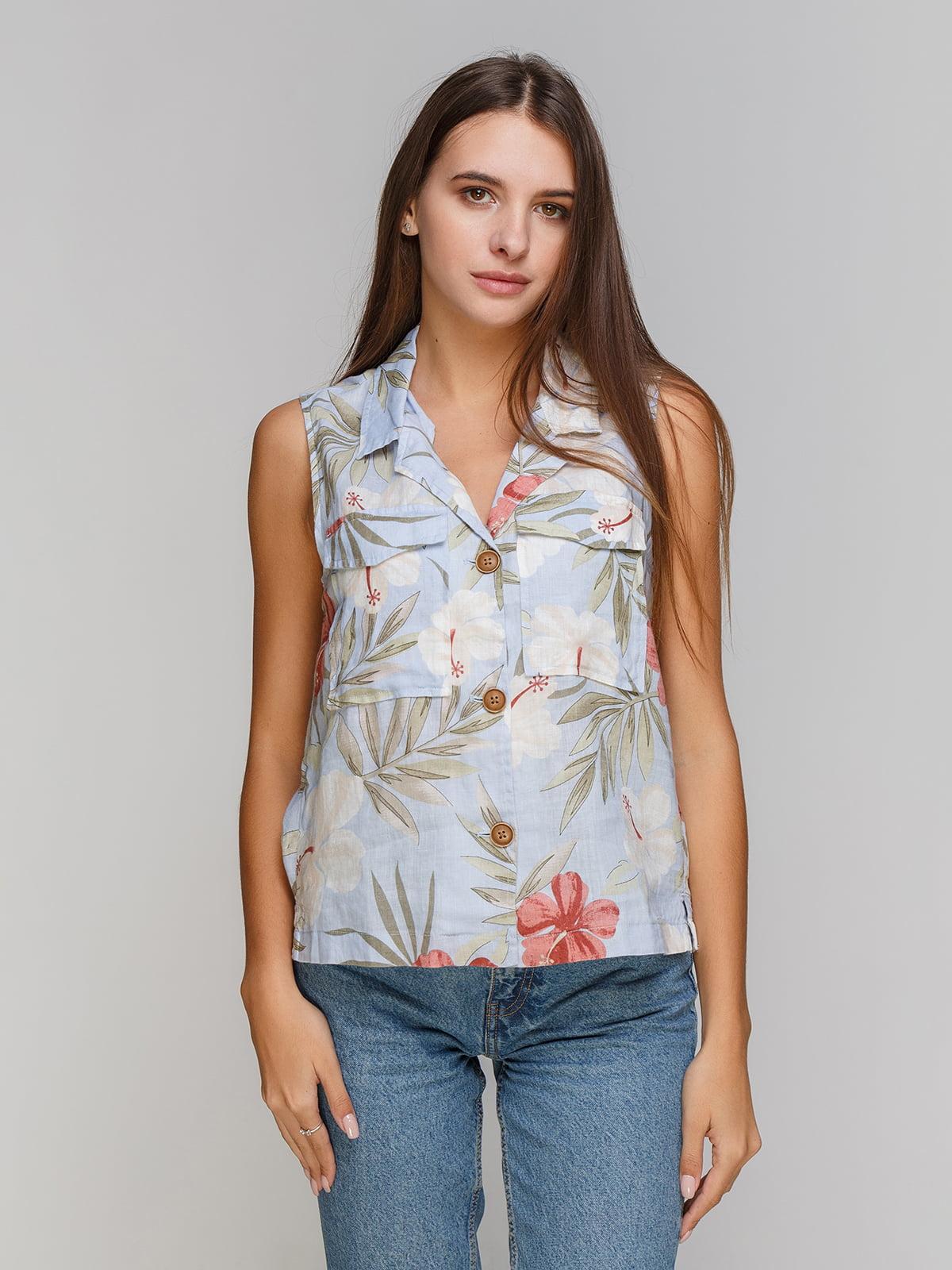 Блуза в цветочный принт | 4201977