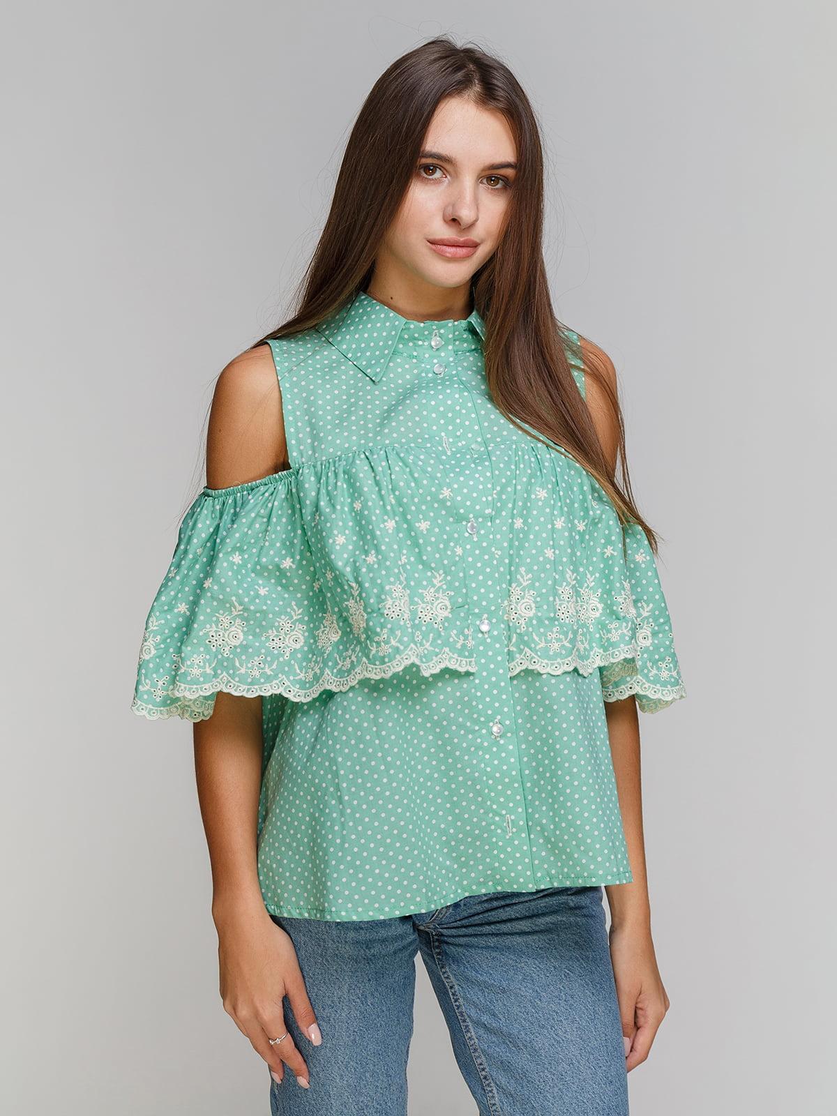 Блуза м'ятна | 3352775