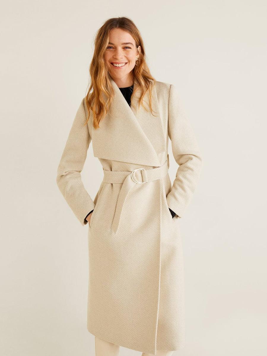 Пальто молочного кольору | 5188473
