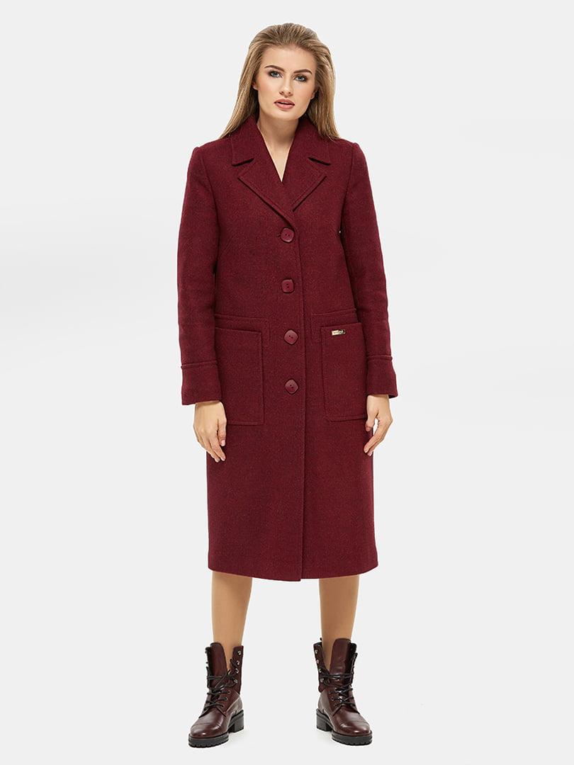 Пальто бордове | 5205586
