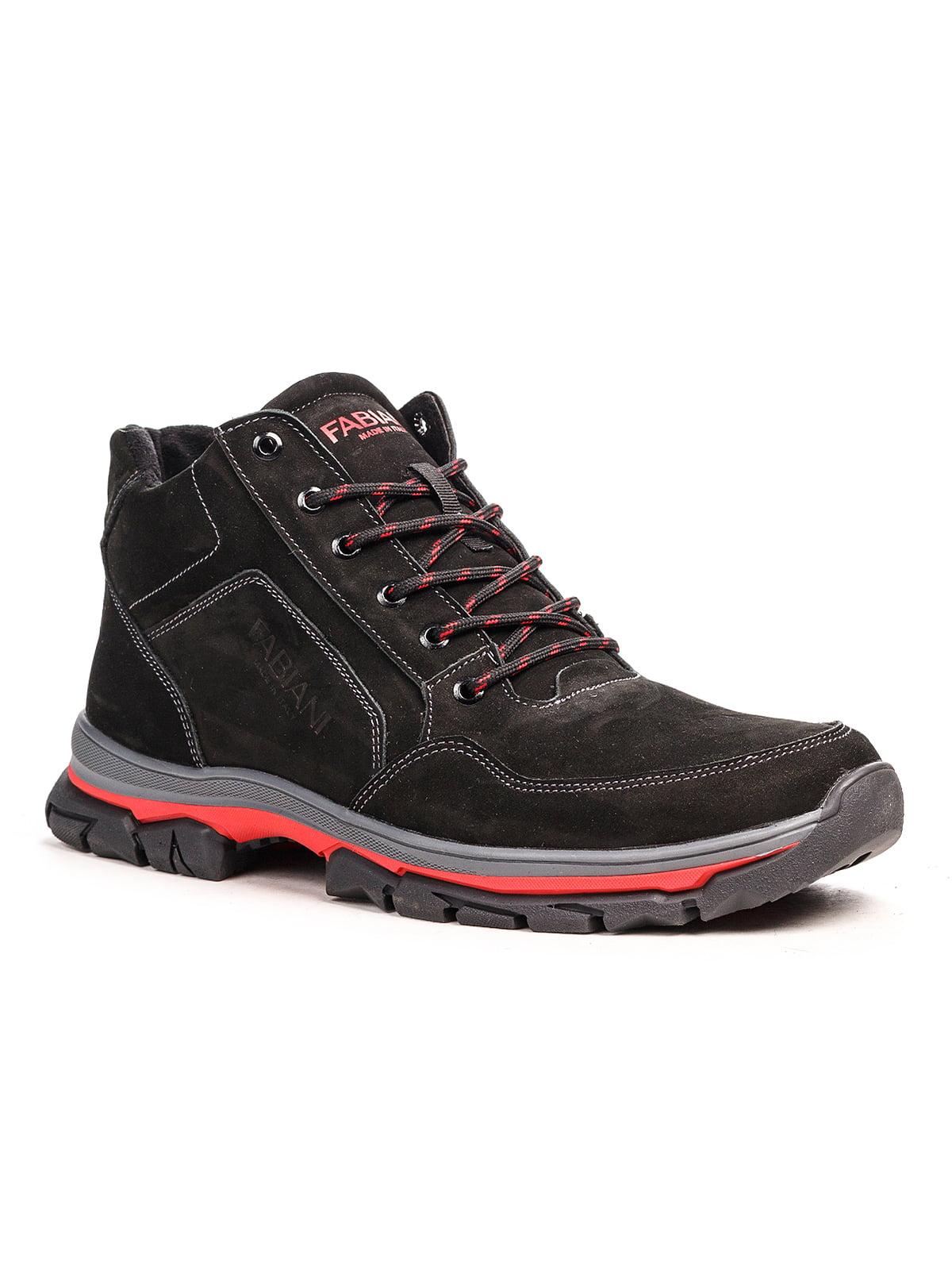 Ботинки черно-красные   5201483