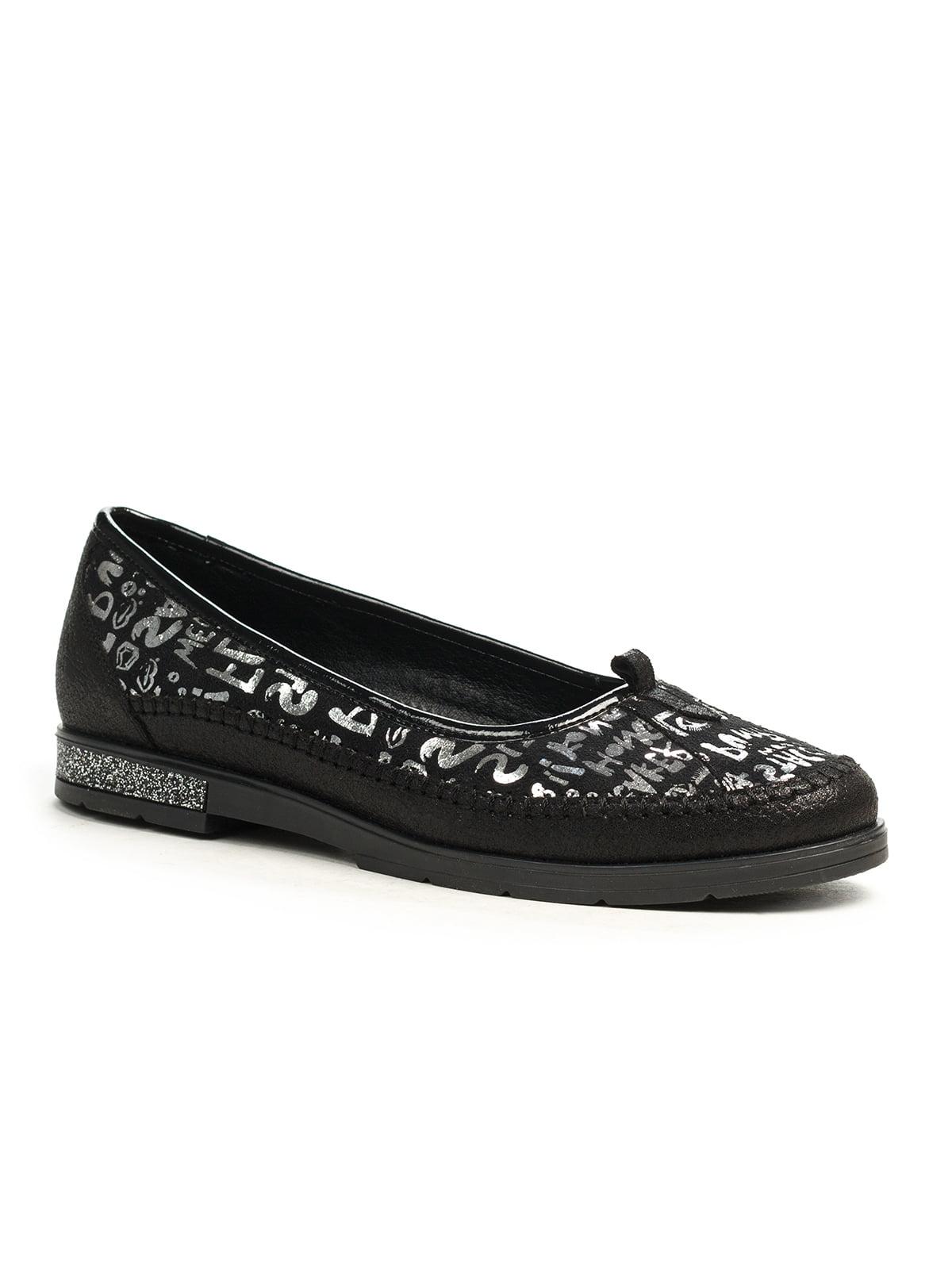 Туфли черные с принтом | 5201498