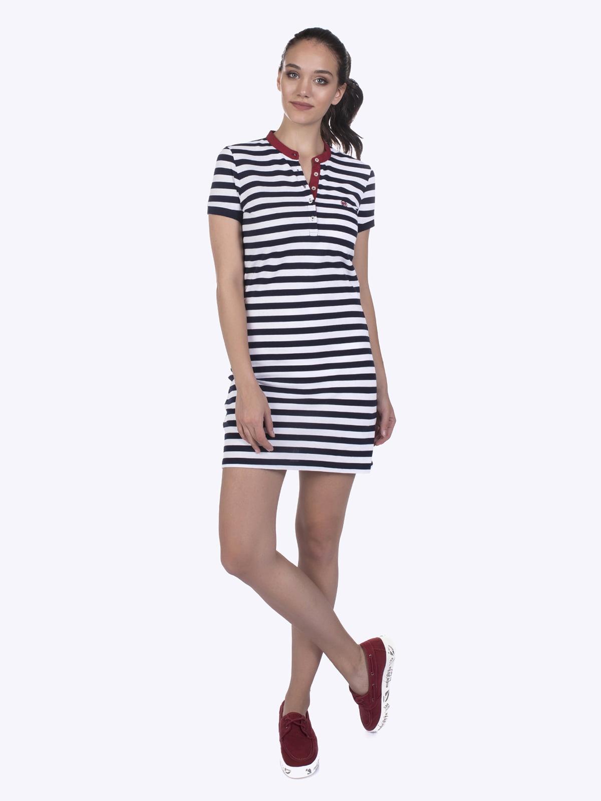 Сукня синьо-біла в смужку | 4403577
