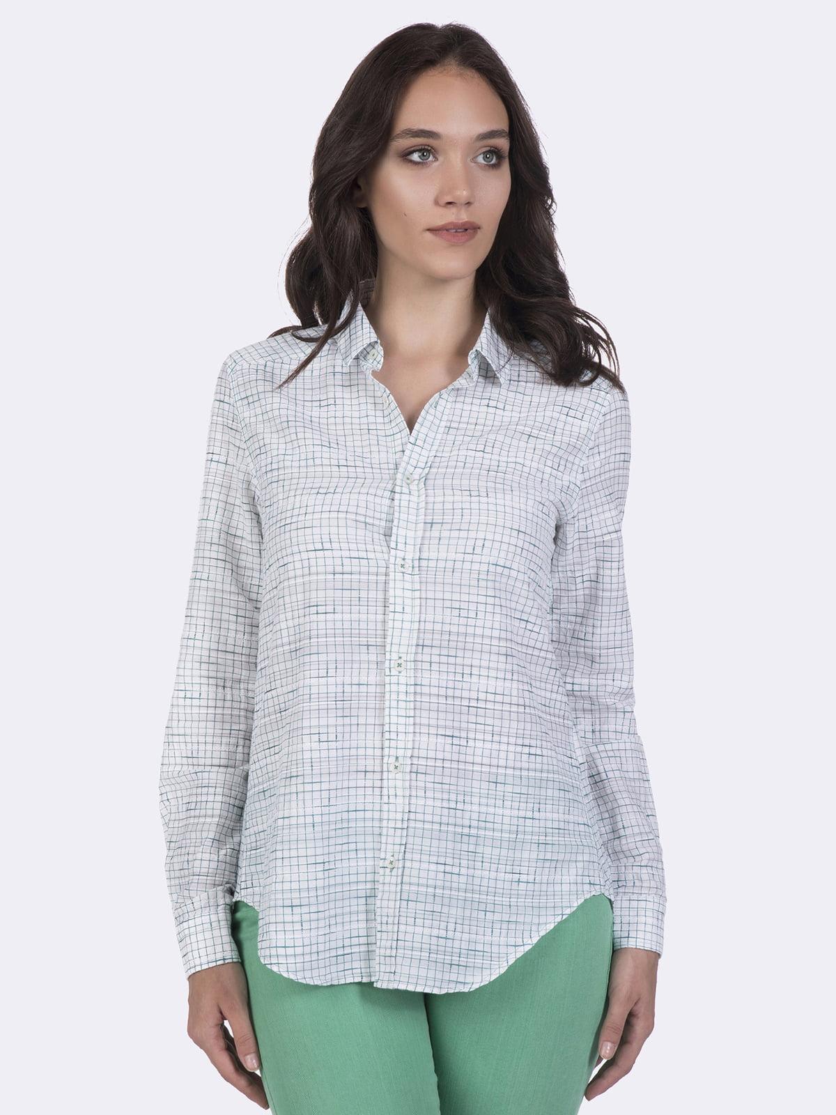 Рубашка белая в клетку | 4403616