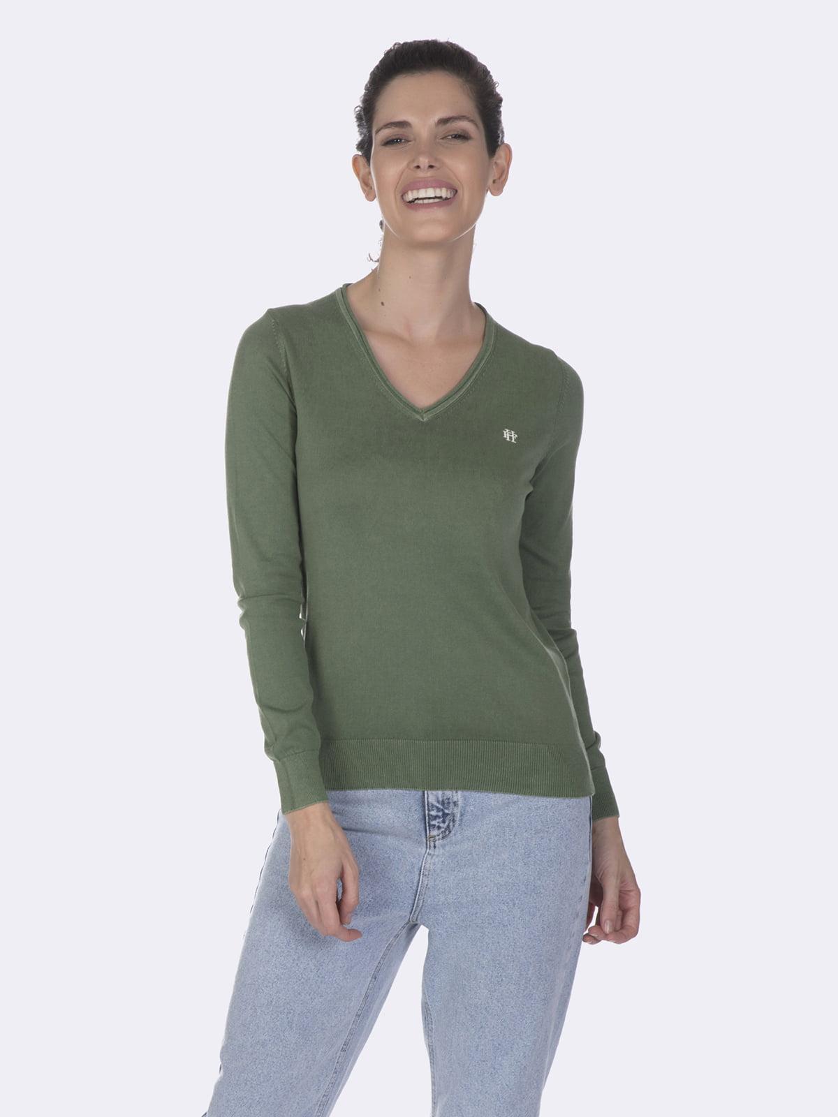 Пуловер зеленый | 5049593