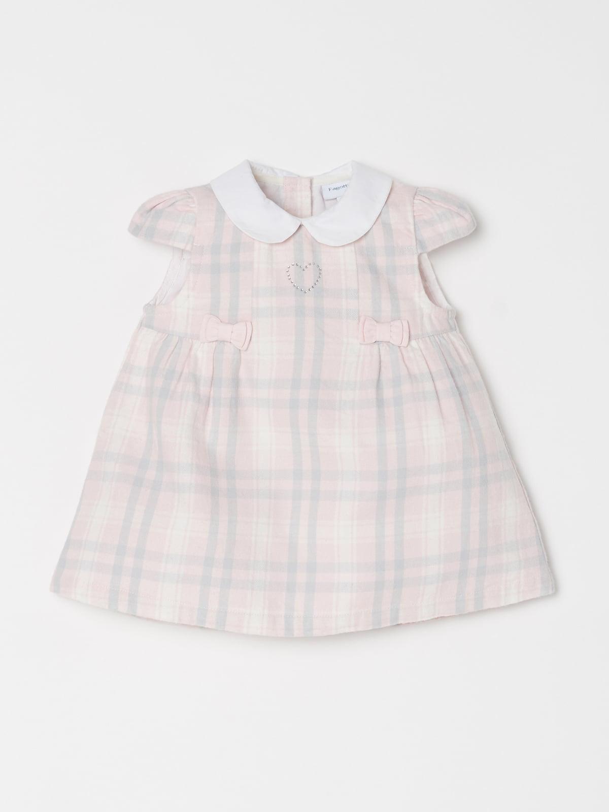 Сукня рожева в клітинку | 5183420