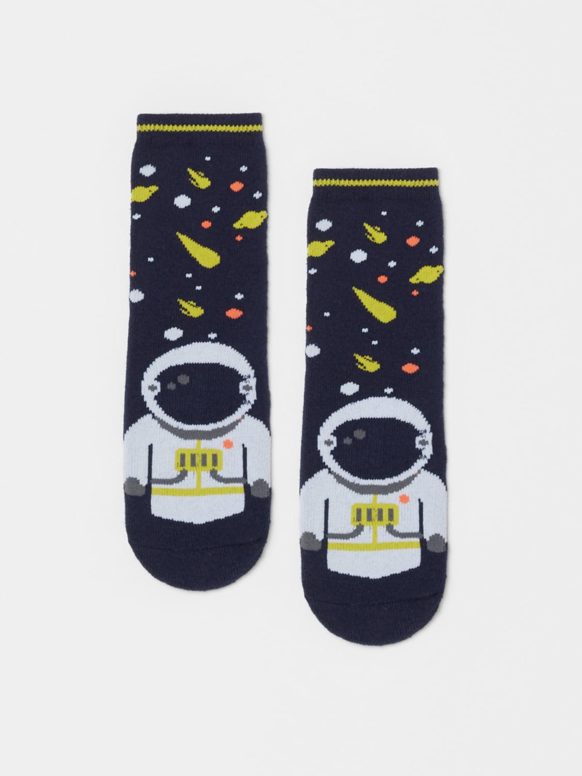 Шкарпетки сині в принт   5183594